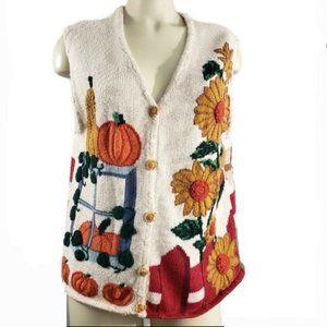 Vintage 1996 eagle's eye collectibles knit vest
